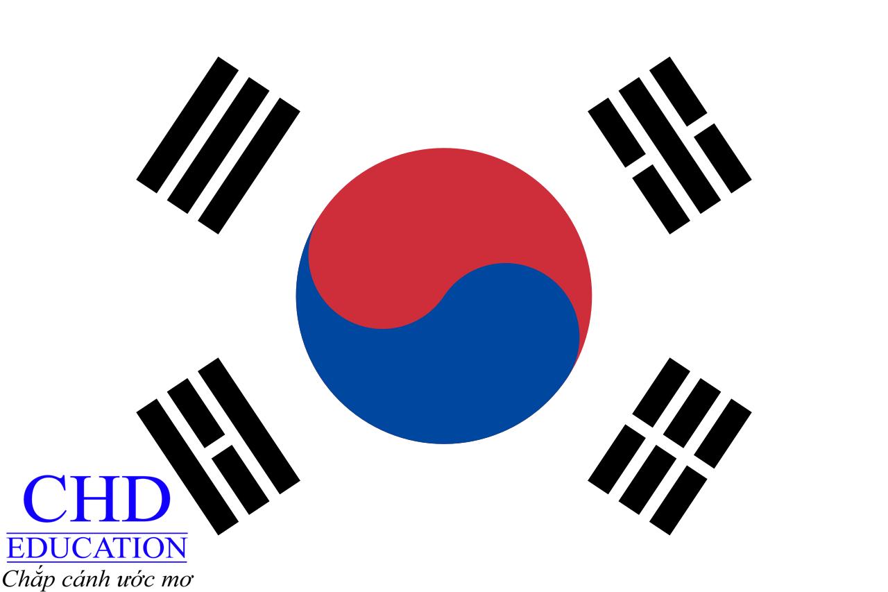 Quốc kỳ Hàn Quốc bao gồm 1 vòng tròn được tạo thành bởi 2 hình bán nguyệt, 1 màu xanh và 1 màu đỏ có dạng như lốc xoáy, ...