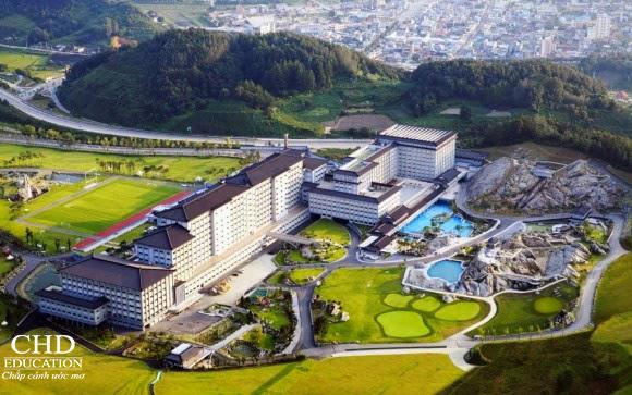 Du học Hàn Quốc - Ngắm toàn bộ cảnh trường Đại học Jungwon từ trên cao