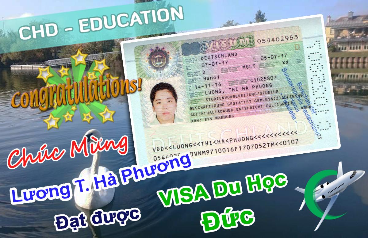Visa du học Đức 2016 của bạn Lương Thị Hà Phương