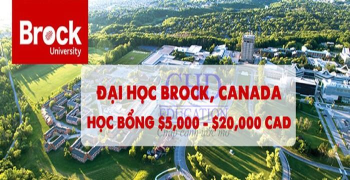 DU HỌC CANADA 2019 ĐẠI HỌC BROCK – CƠ HỘI NHẬN HỌC BỔNG LÊN ĐẾN $20,000 CAD