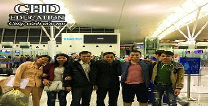 Flight Schedule for Students go study overseas in Korea at CHD Company (03/2017)