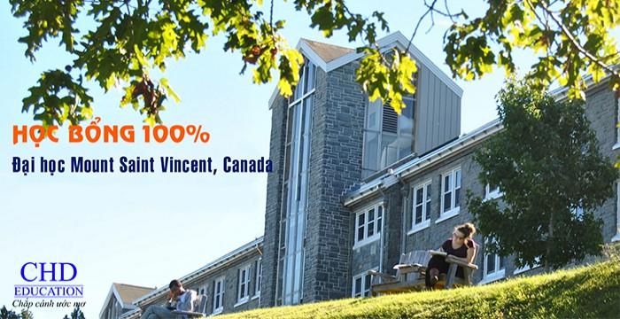 HỌC BỔNG 100% - TRƯỜNG ĐẠI HỌC MOUNT SAINT VINCENT, CANADA