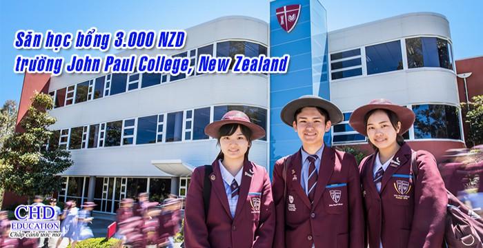 HỌC BỔNG 3.000 NZD TRƯỜNG JOHN PAUL COLLEGE NEW ZEALAND