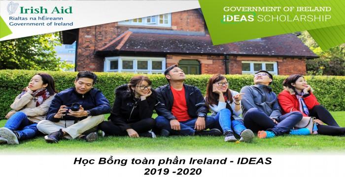 Học Bổng toàn phần Ireland - IDEAS