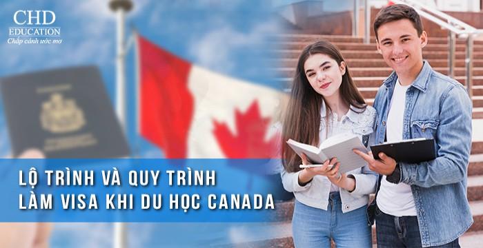 LỘ TRÌNH VÀ QUY TRÌNH LÀM VISA KHI DU HỌC CANADA