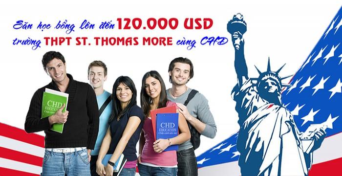 SĂN HỌC BỔNG LÊN ĐẾN 120.000 USD DUY NHẤT TẠI TRƯỜNG THPT ST. THOMAS MORE (MỸ) CÙNG CHD
