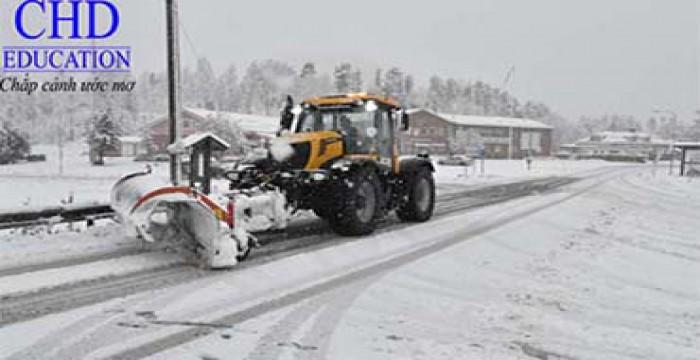 Tuyết rơi lớn vào đầu mùa đông ở Thụy Điển
