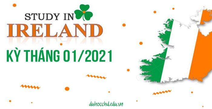 TUYỂN SINH DU HỌC IRELAND KỲ THÁNG 01/2021