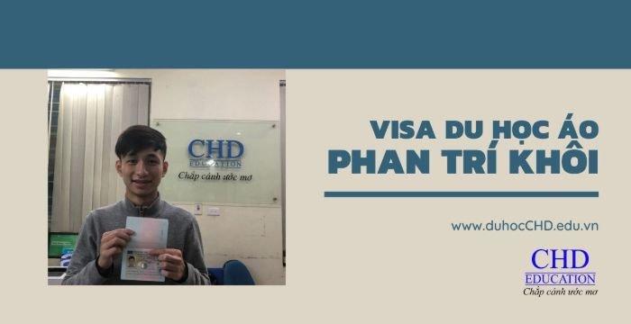 Chúc mừng VISA du học Áo Phan Trí Khôi trường Đại học Tổng Hợp Uni Wien