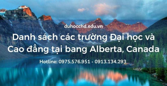 Danh sách các trường Đại học và Cao đẳng tại tỉnh bang Alberta, Canada