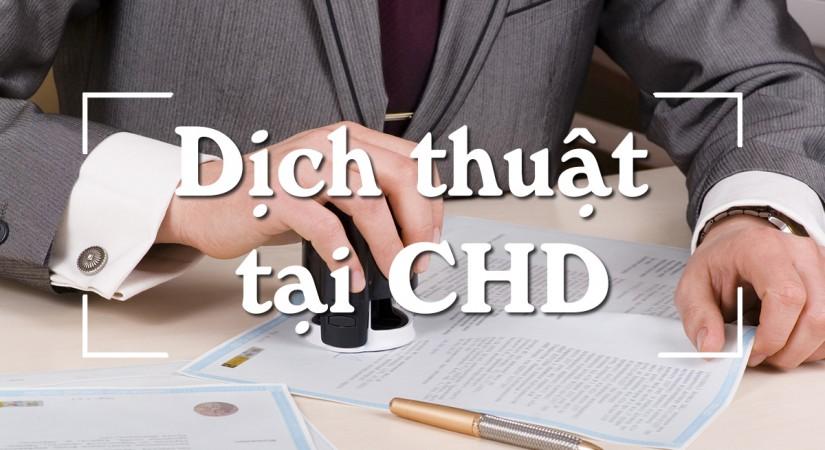 Dịch thuật tại CHD